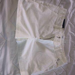White gap shorts